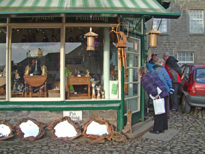 Curiosities shop in Grassington