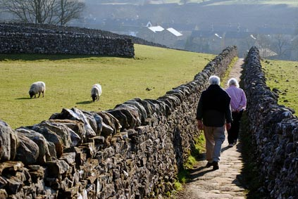 walking holidays in Ribblesdale Yorkshire Dales England
