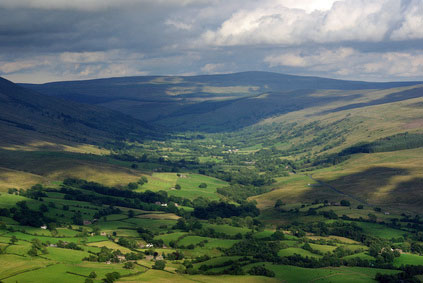 Garsdale valley from Howgill
