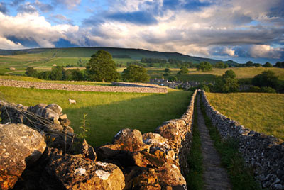 A footpath in the Yorkshire Dales