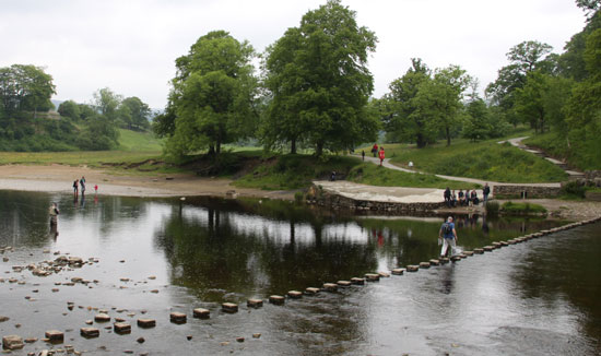 angling at Bolton Abbey on the River Wharfe