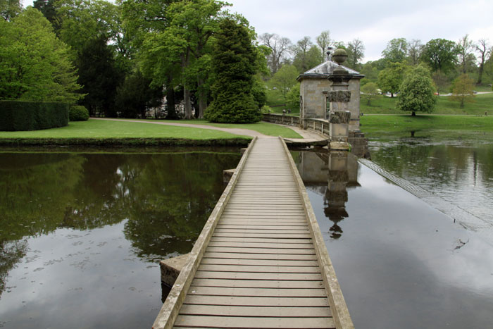 Footbridge across the water at Fountains Abbey