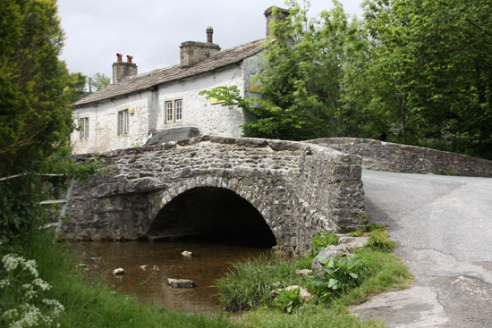 17th century Monks' bridge in Malham