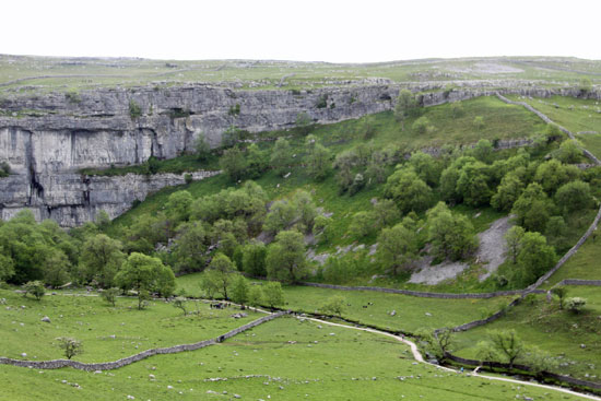 The pathway to Malham Cove from the village