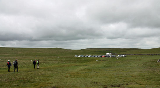 car park near Malham tarn