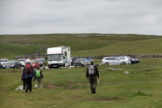 car park for Malham Tarn and Pennine Way